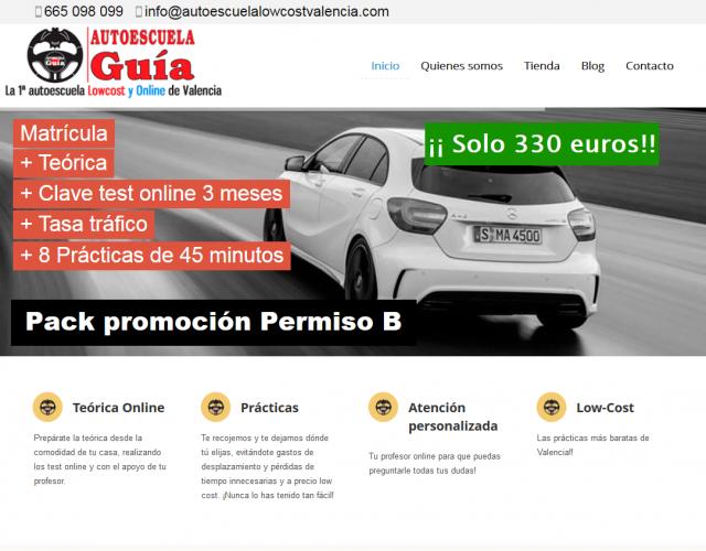 autoescuelalowcostvalencia.com